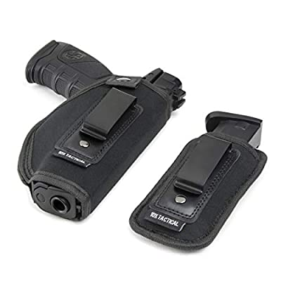 10x Tactical Belly Band Holsters for Concealed Carry | IWB Gun Holster Belt for Men & Women, Fastest Draw Speed, Pistols & Handgun - Glock 17, 19-42, 9mm Smith & Wesson, 38 Special, 40 M P Shield