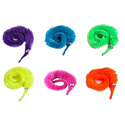 Magic Toy Prop Caterpillar - 6 PC Magic Magic Wiggly Fuzzy Worm Magic Worm Toys for Party Supplies: Home & Kitchen