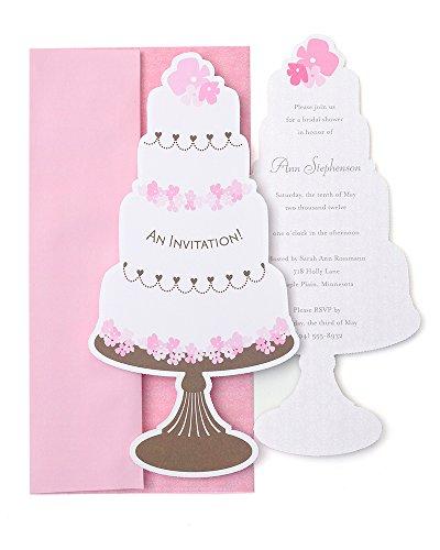(Mara-Mi Wedding Cake Jumbo Imprintable Invitation, 10-Count (90344) )