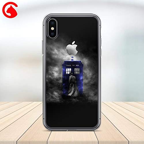(CatixCases Doctor Who Tardis Floral Pattern Transparent Case Cell Phone Plastic Сlear Case for Apple iPhone X/XS/XR/XS Max / 7/8 / plus iPhone 6 / 6S plus Protector Protective Cover Art Design)