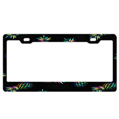 Pineapples License Plate Frame Novelty Car Tag Frame Auto License Plate Holder 12