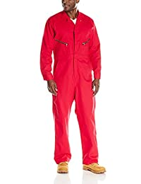 Red Kap Zip - front Cotton Overalls Tall