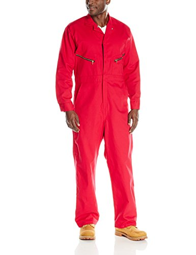 Red Coverall - Red Kap Men's Zip-front Cotton Coverall, Red, 40