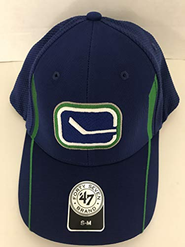 5b71a2376a932 '47 Brand NHL Vancouver Canucks Slapshot Blue/Green Stretch Fitted Slouch  Mesh Back Hat. '