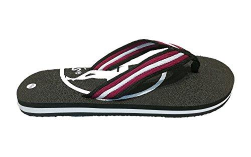 Siebis Strandschuhe Ben Herren-Flip Modischer und sportlicher Zehentrenner: Größe: 41/42 | Farbe: Schwarz