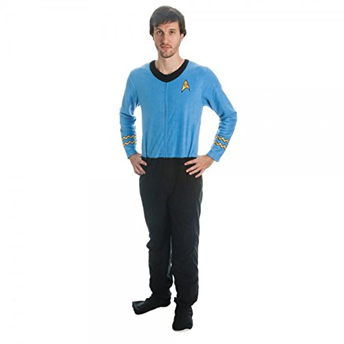 Star Trek Men's Blue Uniform Union Suit (Adult X-Large) -