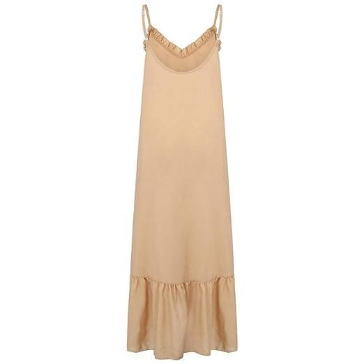 Nuevo Falda de Playa Verano de Mujer Plegable con Cuello en ...