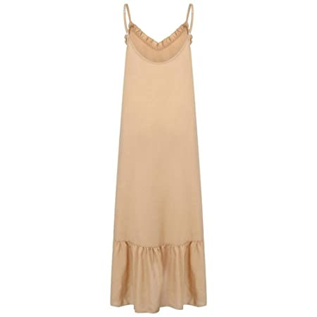 Nuevo Falda de Playa Verano de Mujer Plegable con Cuello en V ...
