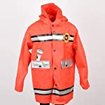 Wippette Fireman red Multi 7 Jr. Fire Squad Print Hood rain Coat Jacket