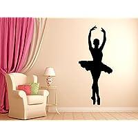 Dancer Ballerina Dance Wall Decal Vinyl Decor Wall Art for Kids Girls Room Bedroom Ballet Silhouette Sticker