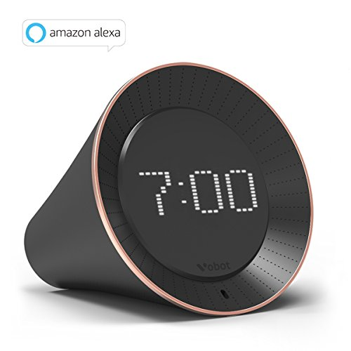 Vobot Smart Alarm Clock with Amazon Alexa, 5W Speaker, Voice Control, LED Display, Timer/Date/Weather/Daily News/Radio/Music(Amazon Music, iHeartRadio, TuneIn etc)