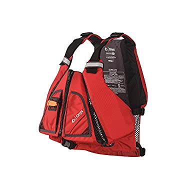 ONYX MoveVent Torision Paddle Sports Life Vest, Red, Medium/Large