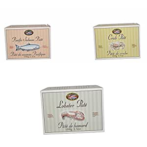 Canadian Seafood Pate Trio With Lobster Crab And Smoked Salmon Pate Gourmet