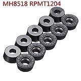 10pcs MH8518 HRC55 RPMW1003/RPMT1204/APMT1135/APMT1604 Carbide Insert Face Mill Cutter Turning Tool - RPMT1204