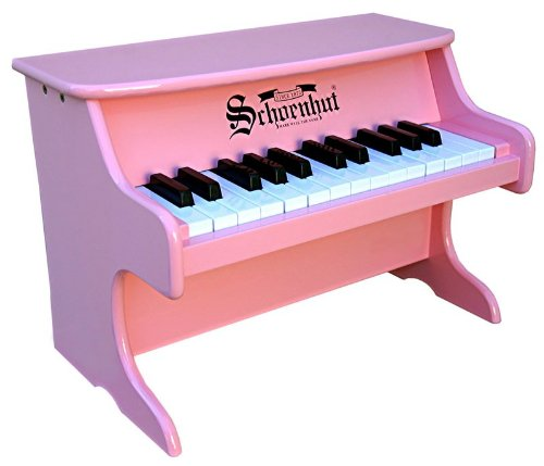 Schoenhut Learn-to-Play Tabletop Piano with 25-Keys and Patented Play-by-Color Tri-Play Learning System