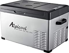 Production descriptionKey Features of Alpicool C30 - Suitable for Car and home using work on 12/24V DC and 110V to 240V AC. - Can freeze down to -4°F(-20°C) for true car refrigeration and compact fridge at home. - 3 stage car battery protecti...