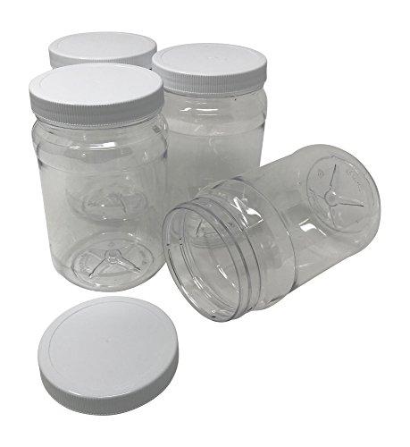 clear plastic jars 32 oz - 8