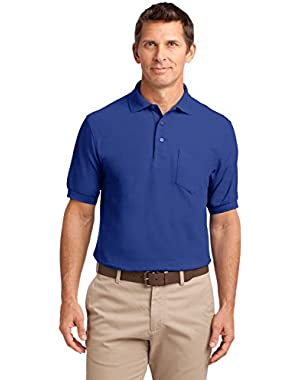 Silk Touch Polo Shirt with Pocket - PolyCotton Fabric - XS-6XL