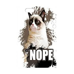 Grumpy cat DIY 3D Hard Case For Iphone 5/5S Cover LMc-89794 at LaiMc