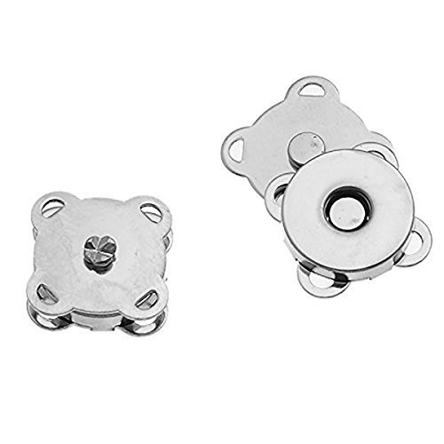 (Lieomo 14mm DIY Extra Thin Sew On Magnetic Snap Button Bag Clothing Clasp (20PCS, Silver))