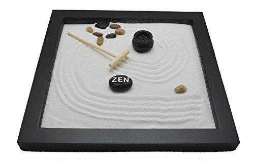 Table Top Rock Sand Rake Zen Garden Incense Holder Tabletop Set (Zen Rock)