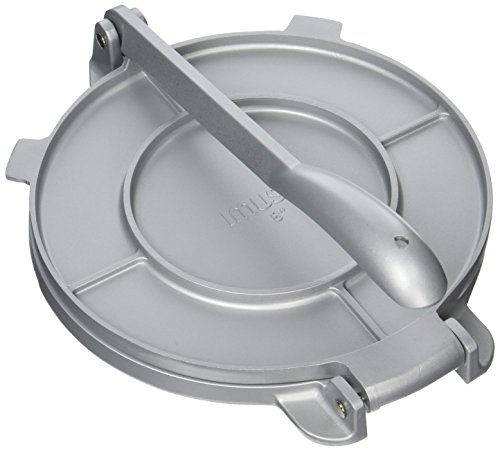 Dough Press (IMUSA USA MEXI-86009M Cast Aluminum Tortilla & Roti Press 8-Inch, Silver)