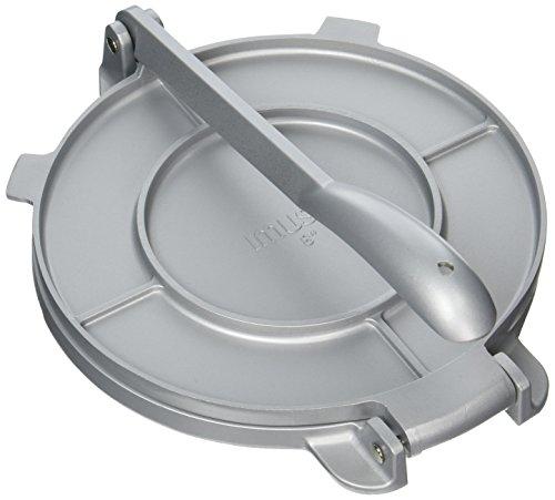 IMUSA USA MEXI-86009M Cast Aluminum Tortilla & Roti Press 8-Inch, Silver (Silver Cast)