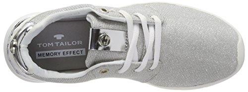 Tom Tailor Kvinder 4891702 Sneaker Sølv (sølv) l9Iuye