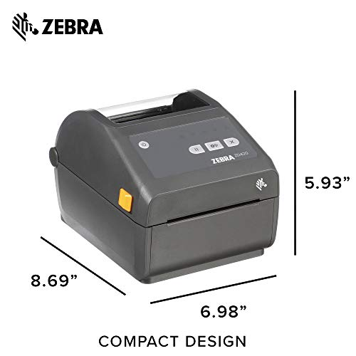 Zebra - ZD420d Direct Thermal Desktop Printer for Labels and Barcodes - Print Width 4 in - 203 dpi - Interface: WiFi, Bluetooth, USB - ZD42042-D01W01EZ by Zebra Technologies (Image #6)