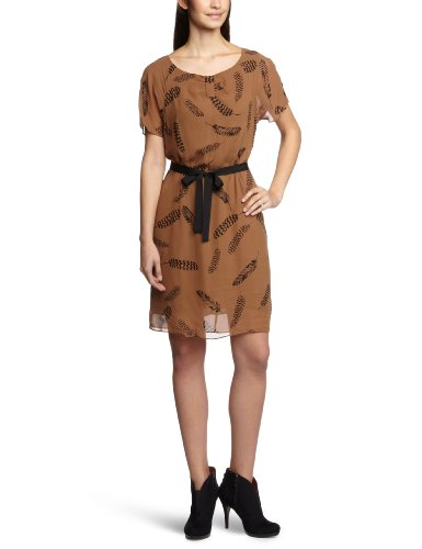 InWear - Vestido con cuello redondo de manga corta para mujer Beige (A Caramel 017)
