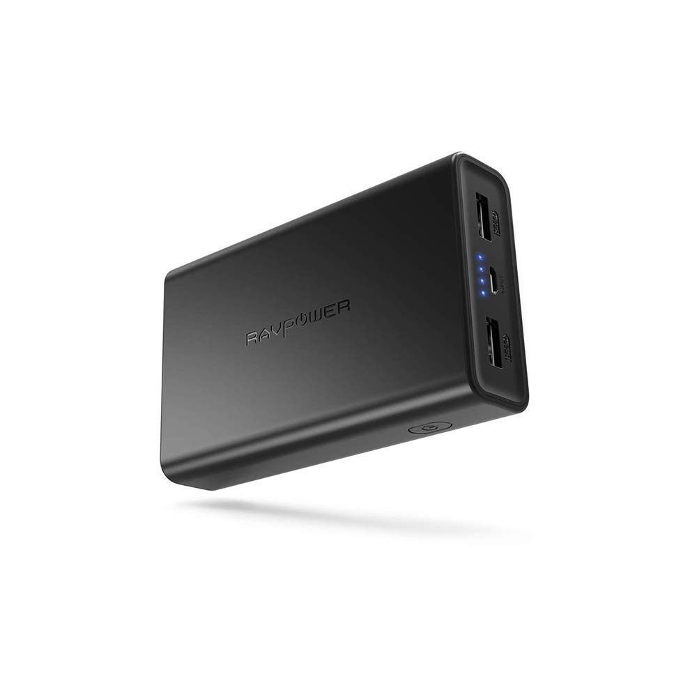 RAVPOWER 2019 Nuevo versión Bateria Externa 10000mAh Powerbank,Bateria Externa para Movil 5V / 3.4A Cargador Portátil 2 Puertos USB 2.0 iSmart ...