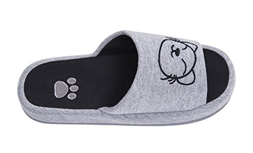 Gray Cotton CoCo Slippers Skidproof series 2 Cartoon Knitted Animal Urban House g81RqwwI