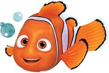 5 Inch Clownfish Clown Fish Finding Dory Nemo 2 Movie Removable Peel Self Stick Adhesive Vinyl Decorative Wall Decal Sticker Art Kids Room Home Decor Boys Children Nursery Baby 5x3 inches