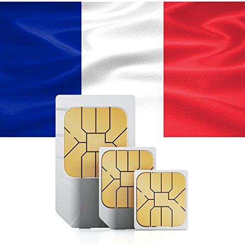 1GB French Prepaid Data Sim card Standard Macro Nano 3G valid for 30 days France