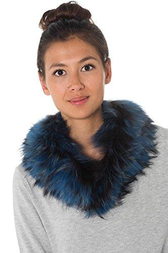Col Toy Femme Noir Fourrure Bleu en d'Oakwood q4AwHxqr