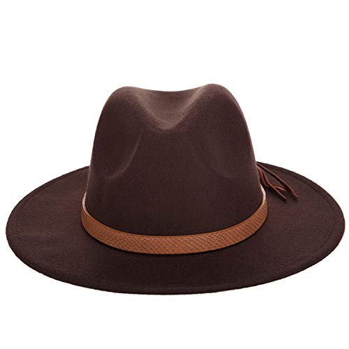 plummei Autumn and Winter Men's Fedora hat Classical Sombrero Hairy Imitation Wool Cap Sunshade Boys Hats Bone,Coffee,59-61CM