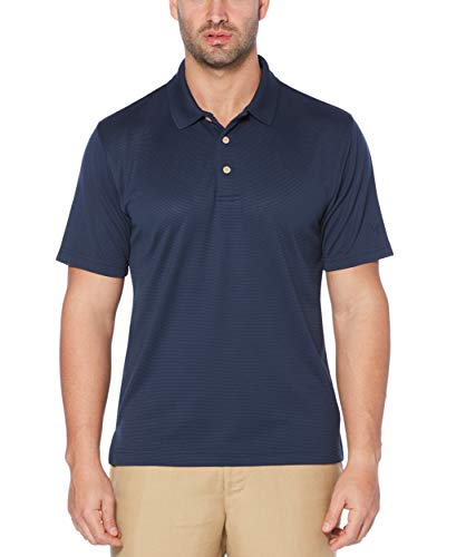 - Cubavera Men's Essential Textured Performance Polo Shirt, Dress Blues, Large