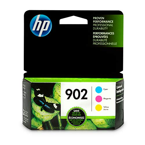 - HP 902 Cyan, Magenta & Yellow Ink Cartridges, 3 Cartridges (T6L86AN, T6L90AN, T6L94AN)