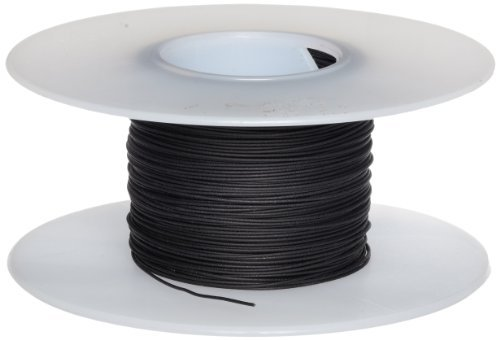 Jonard R30BLK-0100 Kynar Insulated Silver Plated Copper Wire, 30 AWG Wire Size, 0.0195 Insulation Diameter, 100' Length, Black by Jonard Tools Review