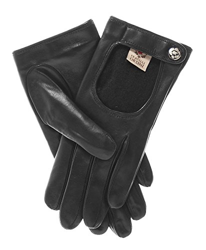 Fratelli Orsini Women's Italian Cashmere Lined Leather Driving Gloves Size 6 1/2 Color Black by Fratelli Orsini