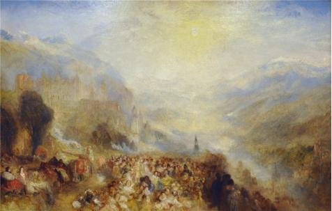 Oil Painting 'Joseph Mallord William Turner - Heidelberger Schloss,1844-1845' 24 x 38 inch / 61 x 96 cm , on High Definition HD canvas prints is for Gifts And Foyer, - Seattle Sunglasses Skyline