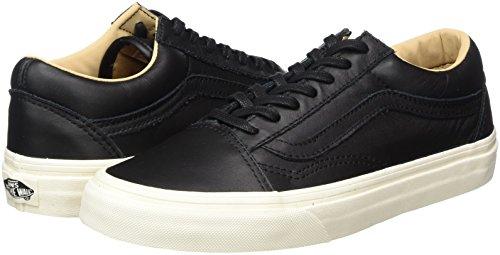 Black Leather Vans Leather Adulte lux Mixte Old Baskets Noir porcini Skool zr7Uq8z
