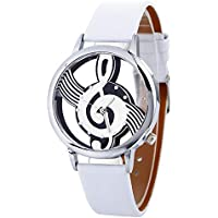Women Quartz Watches VANSOON Teen Girls Dress Watches Musical Note Painting Leather Bracelet Lady Digital Wrist Watch Classic Watches Pocket Watches Clearance