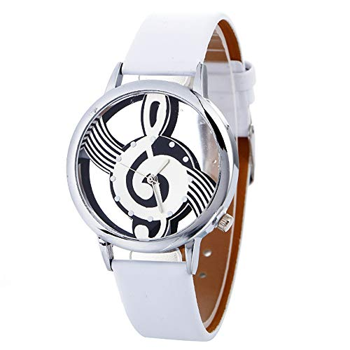Women Quartz Watches VANSOON Teen Girls Dress Watches Musical Note Painting Leather Bracelet Lady Digital Wrist Watch Classic Watches Pocket Watches ()