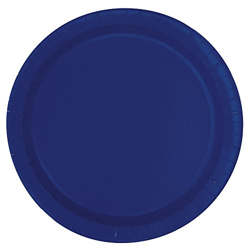 New Disposable Navy Blue Paper Cake Plates, 20 (Happy Halloween Japanese Dance)