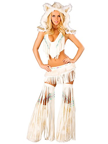 White Indian Sexy Adult Costume M