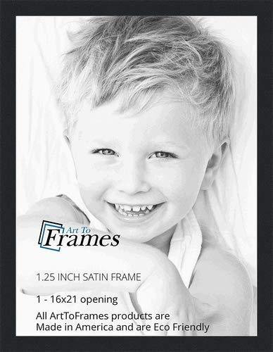 Amazon.com - ArtToFrames 16x21 inch Satin Black Picture Frame ...