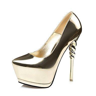 Talones de las mujeres Zapatos Primavera Verano Otoño Invierno otro club de la PU Oficina boda y del partido de la carrera y Noche Tacón de Aguja informal Silver