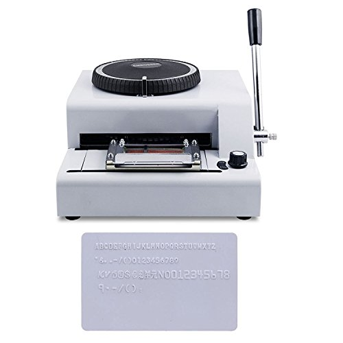 Happybuy Embossing Machine 72 Character Card Embosser for PVC Card Credit ID VIP Manual Embosser Machine Credit Card by Happybuy (Image #1)