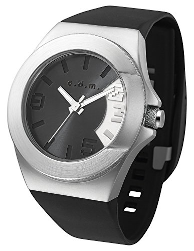 odm-unpretentious-iii-unisex-casual-watch-waterproof-sport-band-black-and-silver